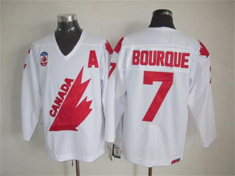 1991 Olympic Team Canada 7 Ray Bourque White