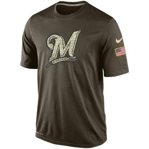 2016 Mens Milwaukee Brewers Salute To Service Nike Dri-FIT T-Shirt