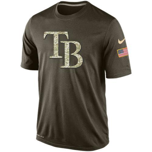 2016 Mens Tampa Bay Rays Salute To Service Nike Dri-FIT T-Shirt