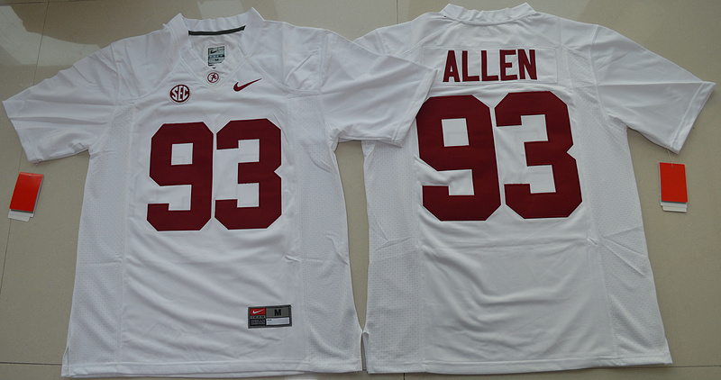 2016 NCAA Alabama Crimson Tide 93 Jonathan Allen White College Football Limited Jersey