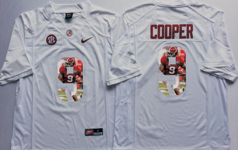 2016 NCAA Alabama Crimson Tide 9 Cooper White Limited Fashion Edition jersey