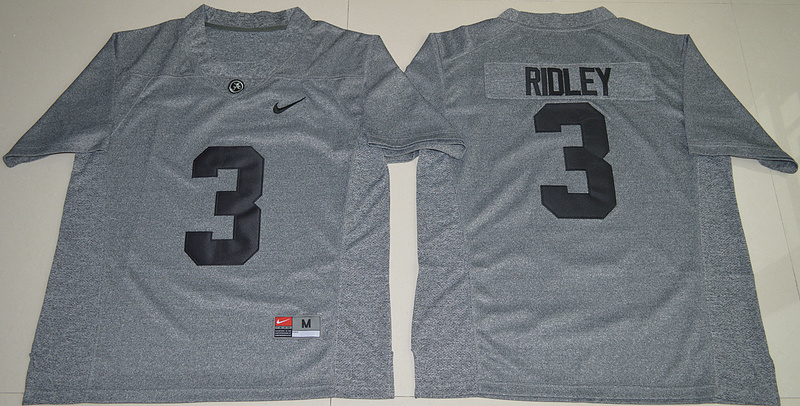 2016 NCAA Heather Gray Alabama Crimson Tide 3 Calvin Ridley Gridiron Gray College Football Limited Jersey