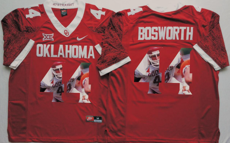 2016 NCAA Oklahoma Sooners 44 Bosworth Red Limited Fashion Edition jersey