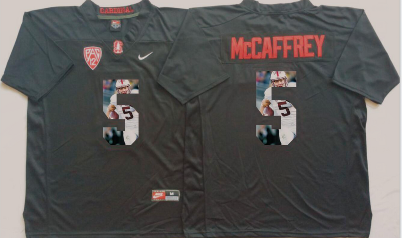 2016 NCAA Stanford Cardinals 5 Mccaffrey Black Fashion Edition jersey