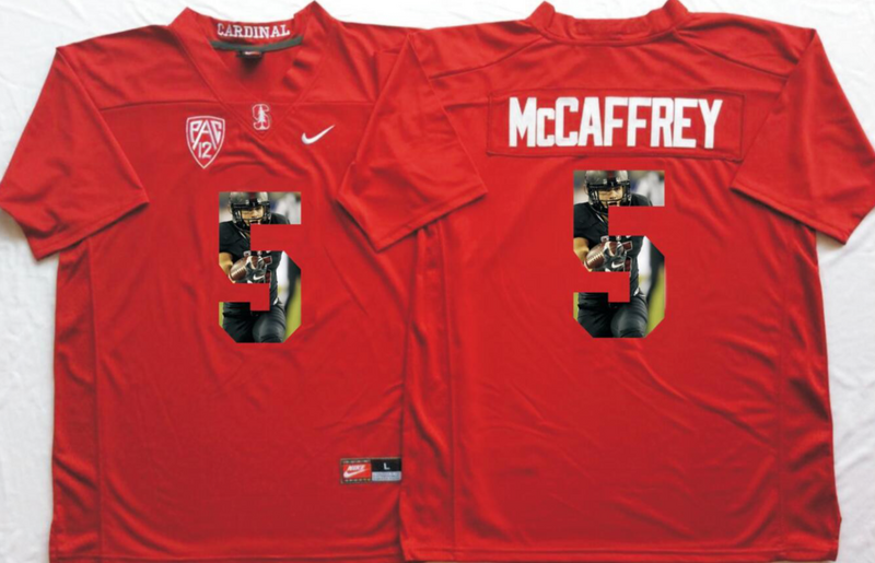 2016 NCAA Stanford Cardinals 5 Mccaffrey Red Fashion Edition jersey