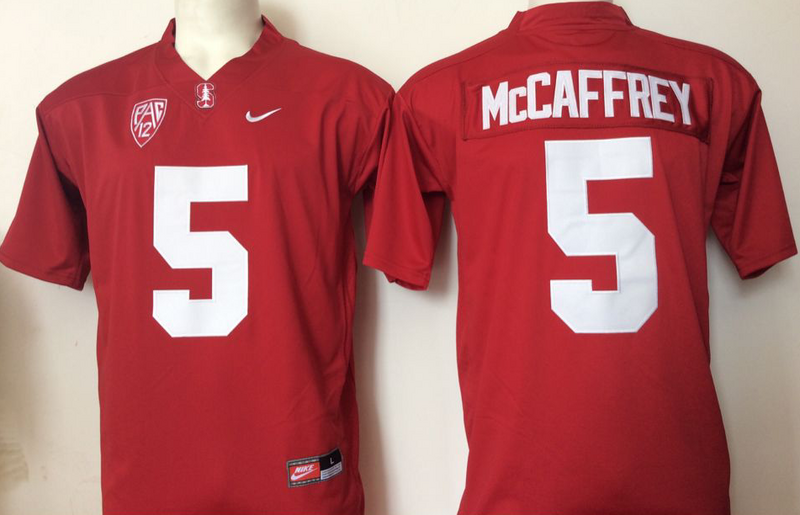 2016 NCAA Stanford Cardinals 5 Mccaffrey Red jersey