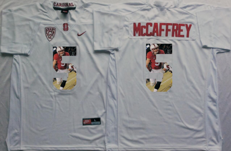 2016 NCAA Stanford Cardinals 5 Mccaffrey White Fashion Edition jersey