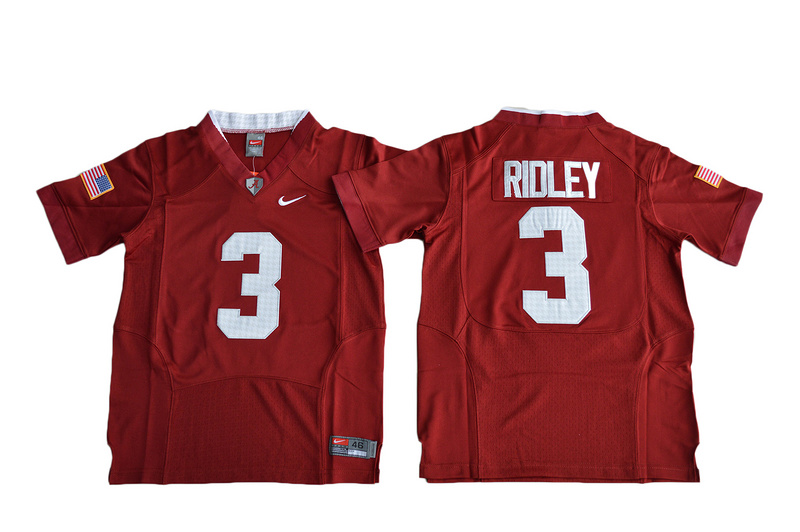 2016 Youth Alabama Crimson Tide Calvin Ridley 3 College Football Pro Combat Jersey - Crimson