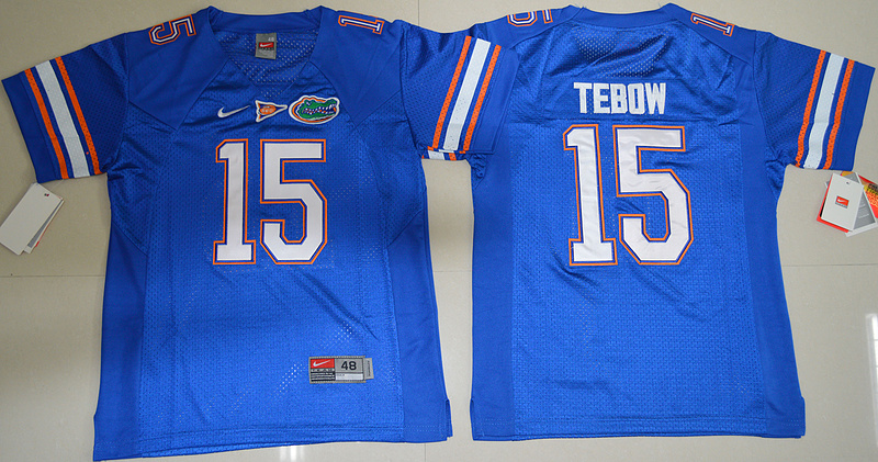 2016 Youth NCAA Florida Gators 15 Tim Tebow Royal Blue College Football Jersey
