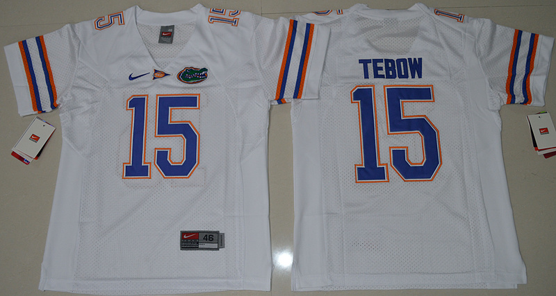 2016 Youth NCAA Florida Gators 15 Tim Tebow White College Football Jersey