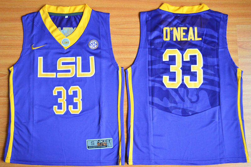 2016 Youth NCAA LSU Tigers 33 Shaquille O'Neal Purple College Basketball Jersey