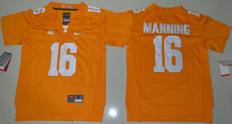 2016 Youth NCAA Tennessee Volunteers 16 Peyton Manning Orange College Football Limited Jersey