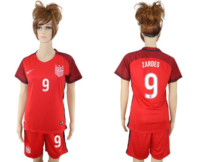 2017-2018 national women United States away 9 soccer jersey