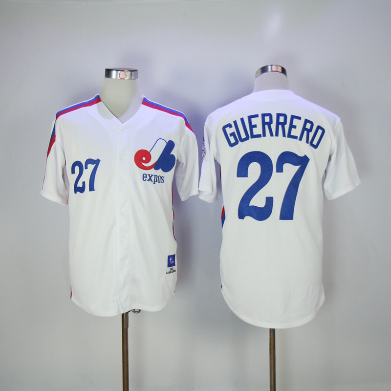 2017 MLB Montreal Expos 27 Guerrero White Throwback jersey