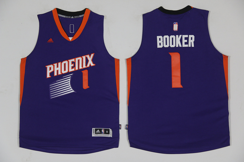 2017 NBA Phoenix Suns 1 Devin Booker Purple jersey