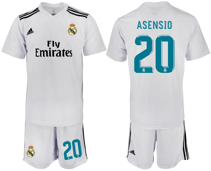 2018-2019 Men club Real Madrid home 20 soccer jersey