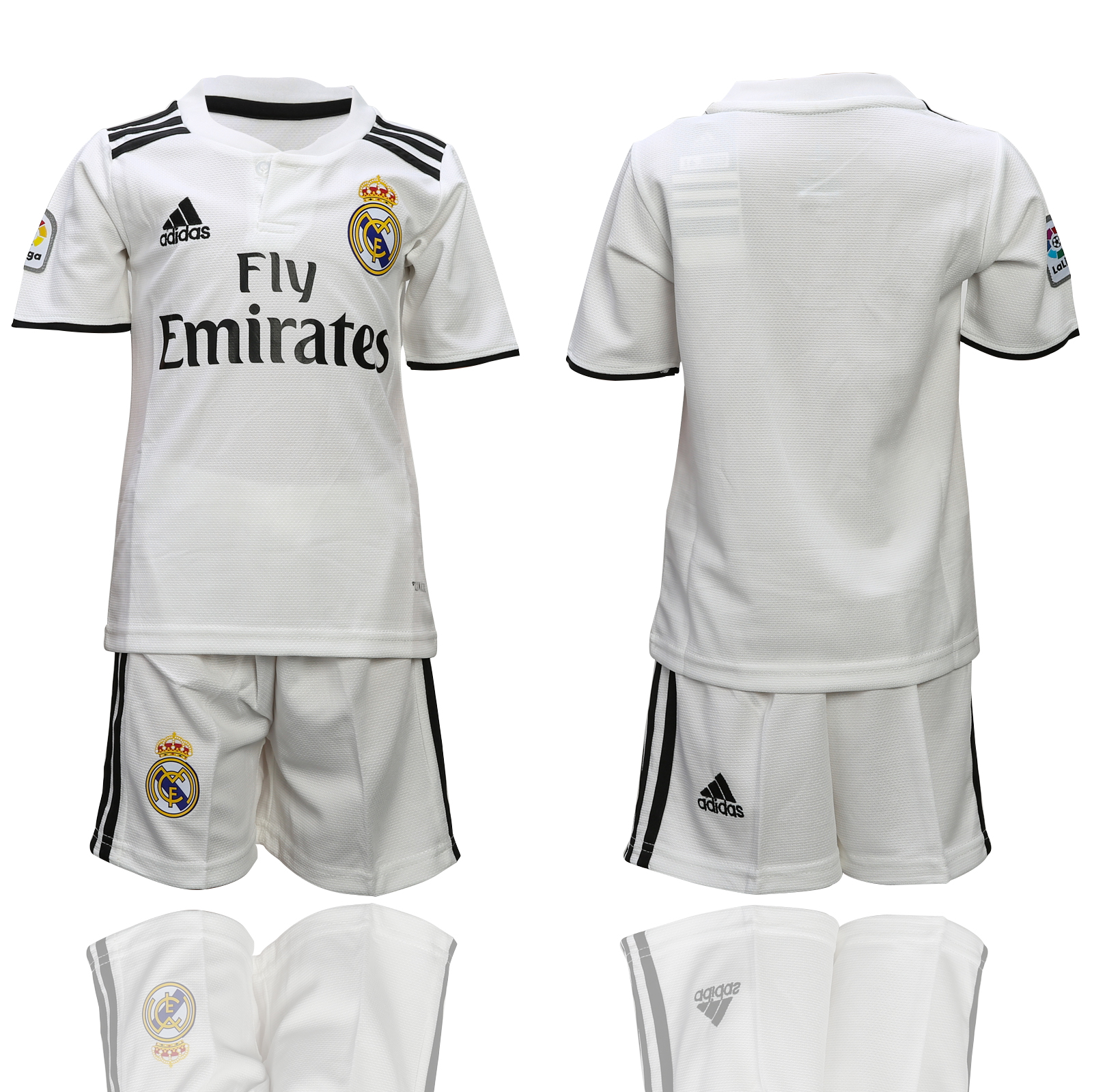 2018-2019 youth club Real Madrid home  soccer jersey