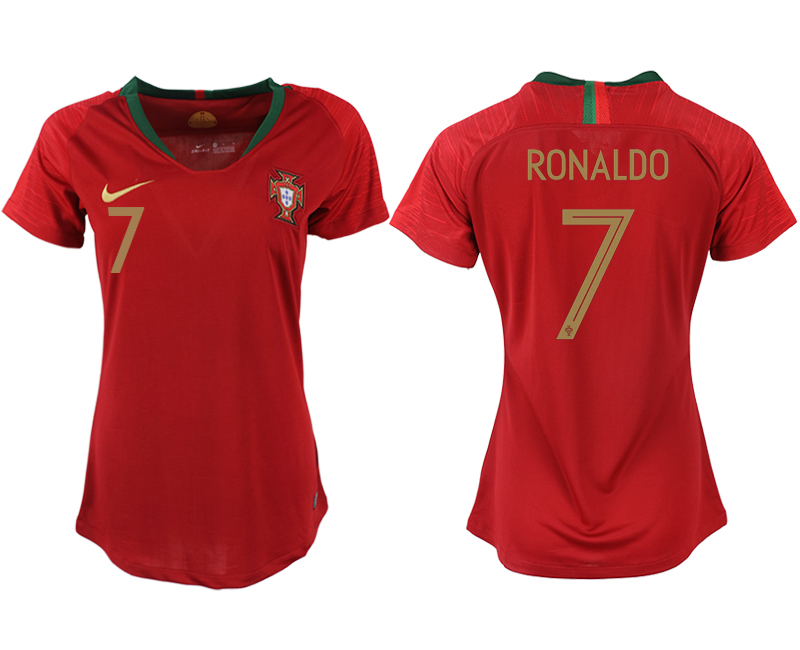 2018 World Cup Portuga home aaa version womens 7 soccer jersey