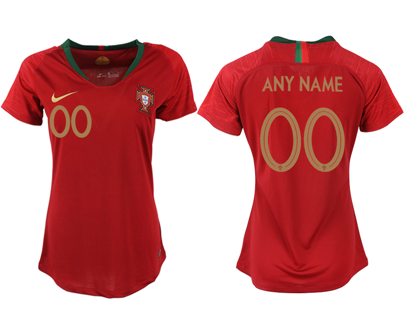 2018 World Cup Portuga home aaa version womens customized soccer jersey
