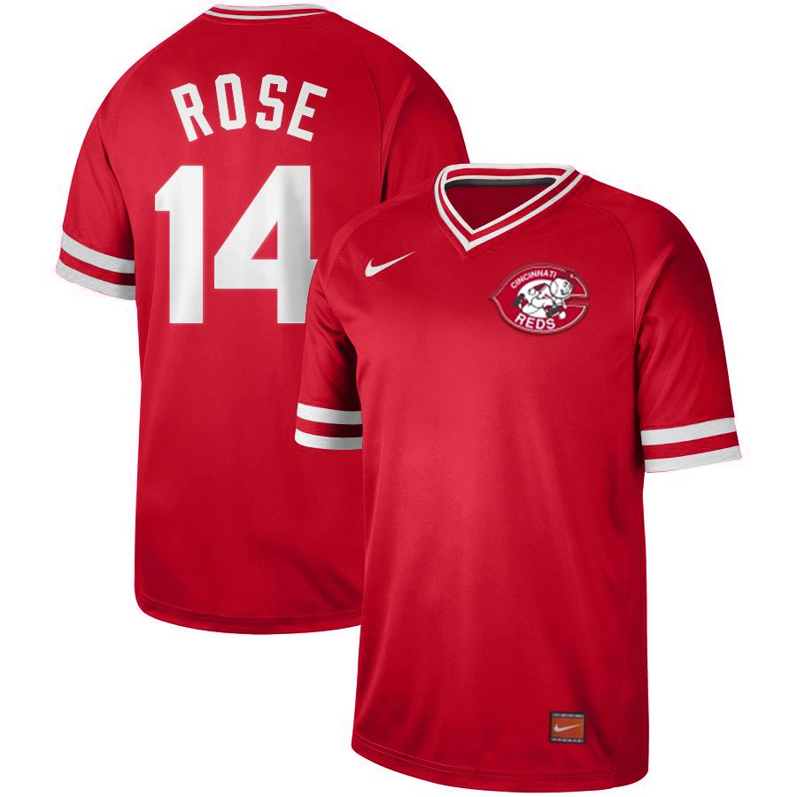 2019 Men MLB Cincinnati Reds 14 Rose red Nike Cooperstown Collection jersey
