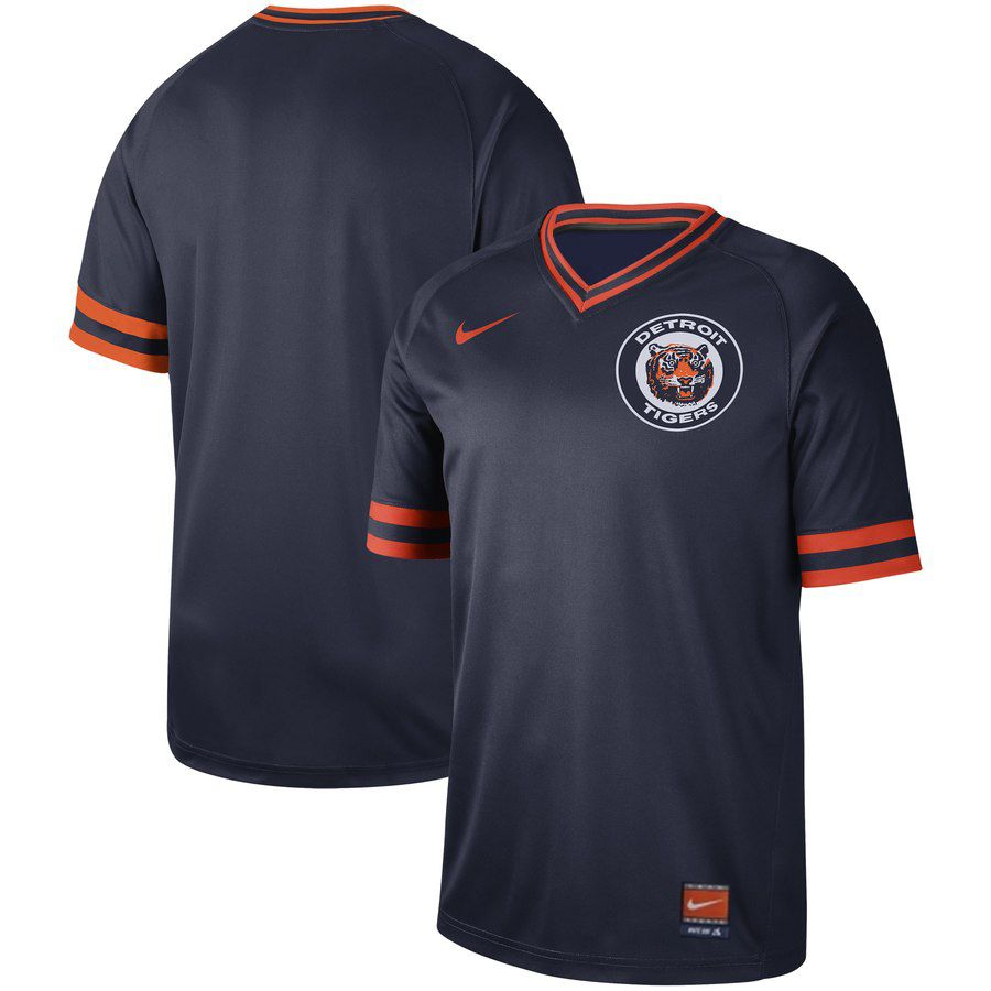 2019 Men MLB Detroit Tigers blank blue Nike Cooperstown Collection jersey