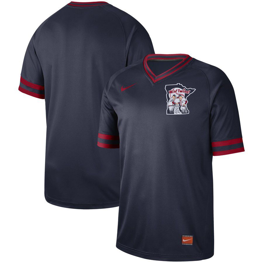 2019 Men MLB Minnesota Twins blank blue Nike Cooperstown Collection jersey