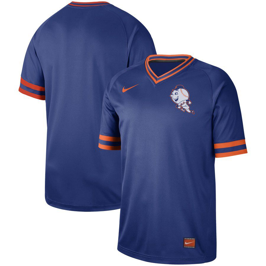 2019 Men MLB New York Mets blank blue Nike Cooperstown Collection jersey