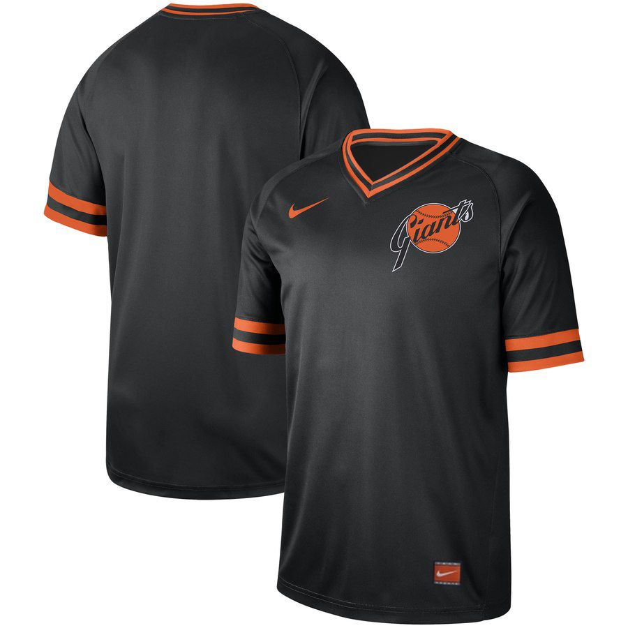 2019 Men MLB San Francisco Giants blank black Nike Cooperstown Collection jersey
