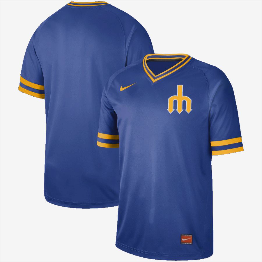 2019 Men MLB Seattle Mariners blank blue Nike Cooperstown Collection jersey