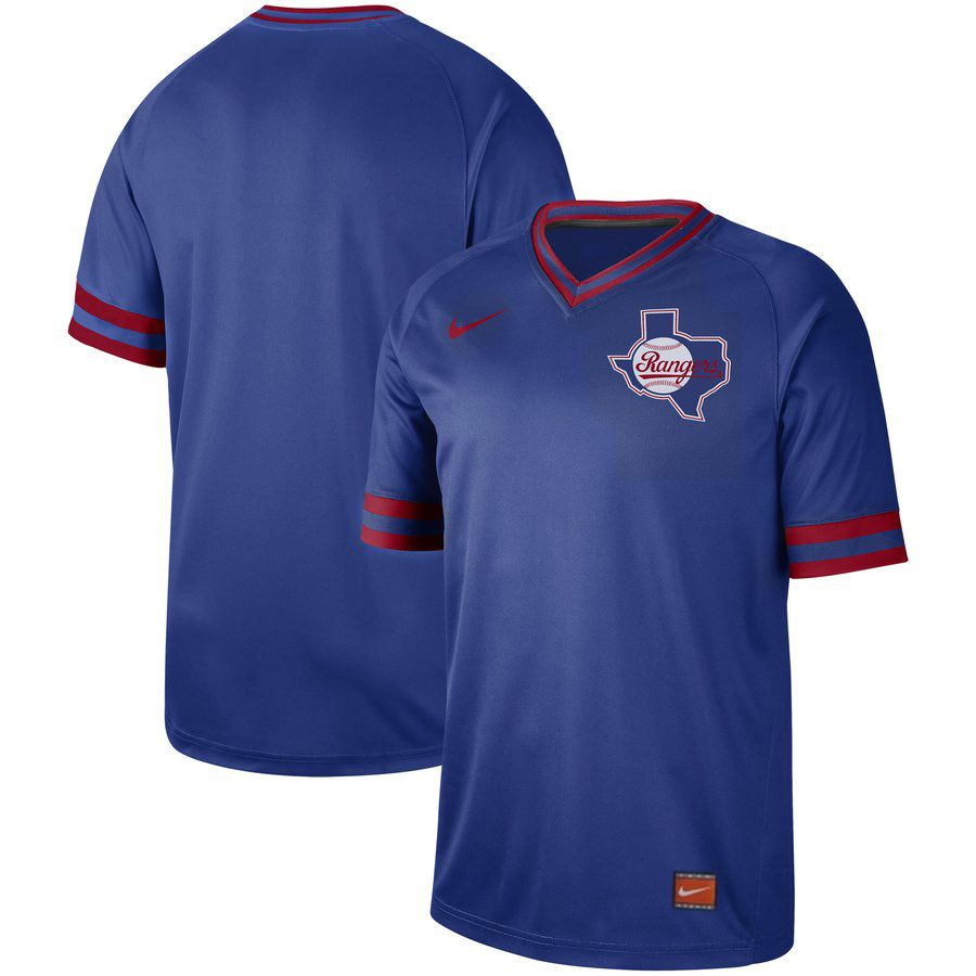 2019 Men MLB Texas Rangers blank blue Nike Cooperstown Collection jersey