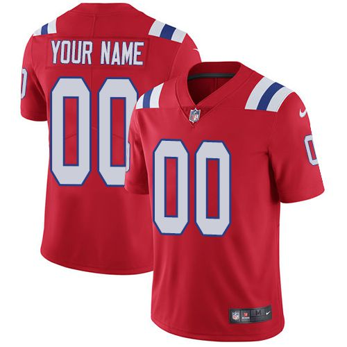 2019 NFL Youth Nike New England Patriots Alternate Red Customized Vapor jersey