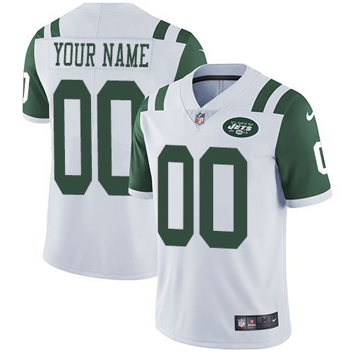 2019 NFL Youth Nike New York Jets Road White Customized Vapor Untouchable Limited jersey
