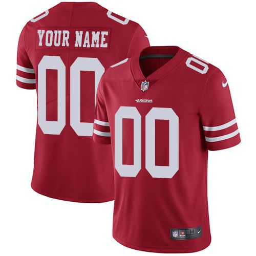 2019 NFL Youth Nike San Francisco 49ers Home Red Customized Vapor jersey