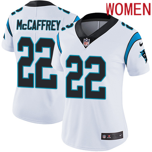 2019 Women Carolina Panthers 22 McCaffrey white Nike Vapor Untouchable Limited NFL Jersey