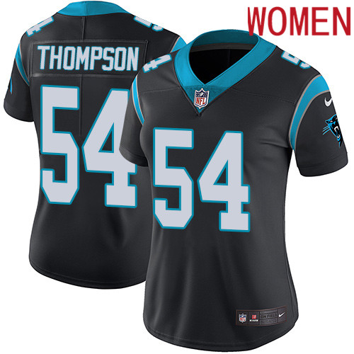 2019 Women Carolina Panthers 54 Thompson black Nike Vapor Untouchable Limited NFL Jersey
