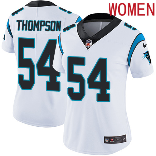 2019 Women Carolina Panthers 54 Thompson white Nike Vapor Untouchable Limited NFL Jersey