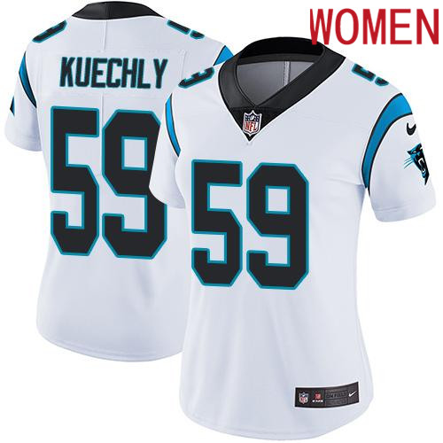2019 Women Carolina Panthers 59 Kuechly white Nike Vapor Untouchable Limited NFL Jersey