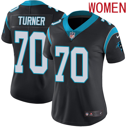 2019 Women Carolina Panthers 70 Turner black Nike Vapor Untouchable Limited NFL Jersey