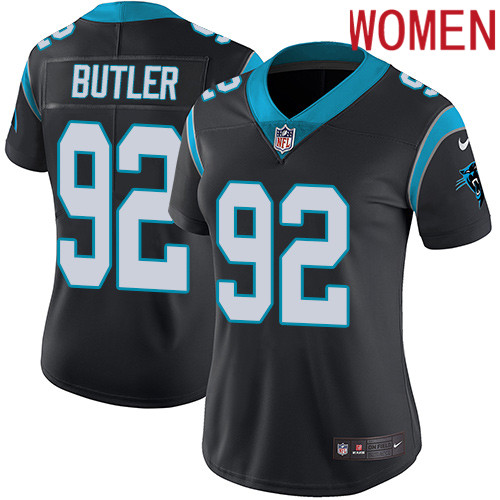 2019 Women Carolina Panthers 92 Butler black Nike Vapor Untouchable Limited NFL Jersey