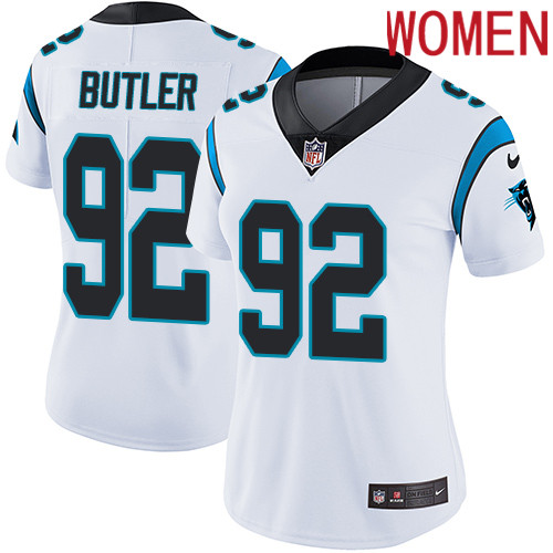 2019 Women Carolina Panthers 92 Butler white Nike Vapor Untouchable Limited NFL Jersey