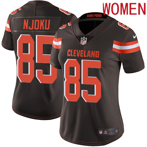 2019 Women Cleveland Browns 85 Njoku brown Nike Vapor Untouchable Limited NFL Jersey