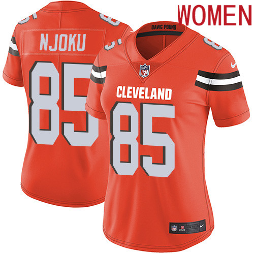 2019 Women Cleveland Browns 85 Njoku Orange Nike Vapor Untouchable Limited NFL Jersey