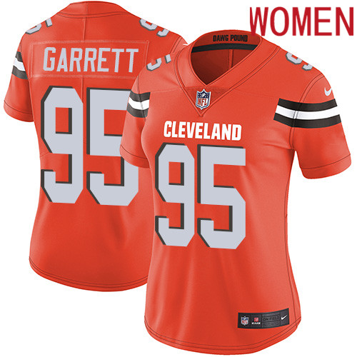 2019 Women Cleveland Browns 95 Garrett orange Nike Vapor Untouchable Limited NFL Jersey