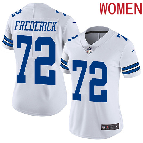 2019 Women Dallas Cowboys 72 Frederick white Nike Vapor Untouchable Limited NFL Jersey style 2