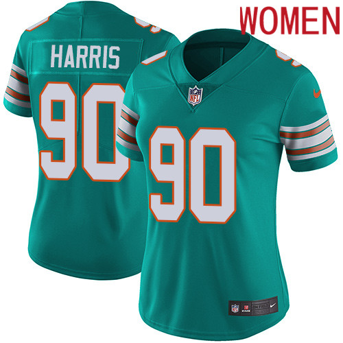 2019 Women Miami Dolphins 90 Harris Green Nike Vapor Untouchable Limited NFL Jersey style 2