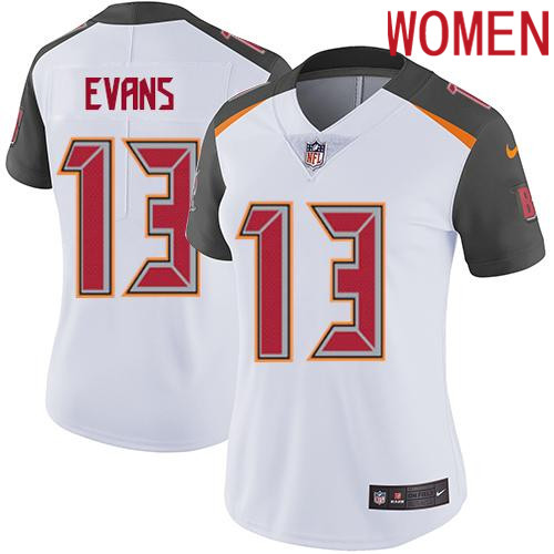 2019 Women Tampa Bay Buccaneers 13 Evans white Nike Vapor Untouchable Limited NFL Jersey