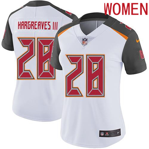 2019 Women Tampa Bay Buccaneers 28 Hargreaves III white Nike Vapor Untouchable Limited NFL Jersey