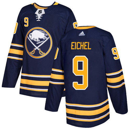 Adidas Buffalo Sabres 9 Jack Eichel Navy Blue Home Authentic Youth Stitched NHL Jersey
