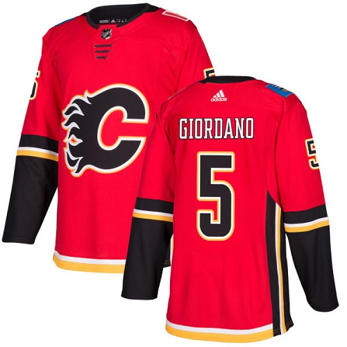 Adidas Calgary Flames 5 Mark Giordano Red Home Authentic Stitched Youth NHL Jersey