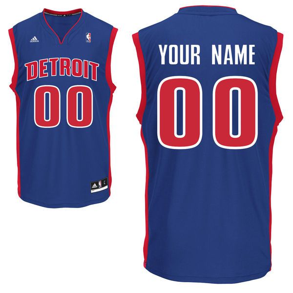 Adidas Detroit Pistons Youth Custom Replica Road Blue NBA Jersey